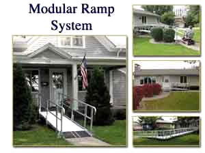 modular wheelchair ramp system