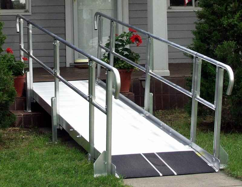 Modular wheelchair ramp 3 adaptive access for Prefab wheelchair ramp