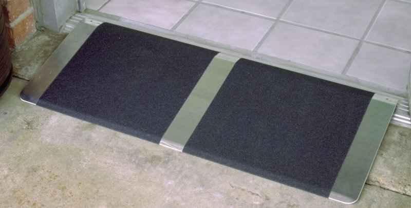 aluminum threshold ramp view